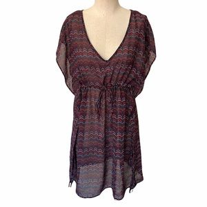 Merona Bohemian Multicolor Sheer Coverup Dress